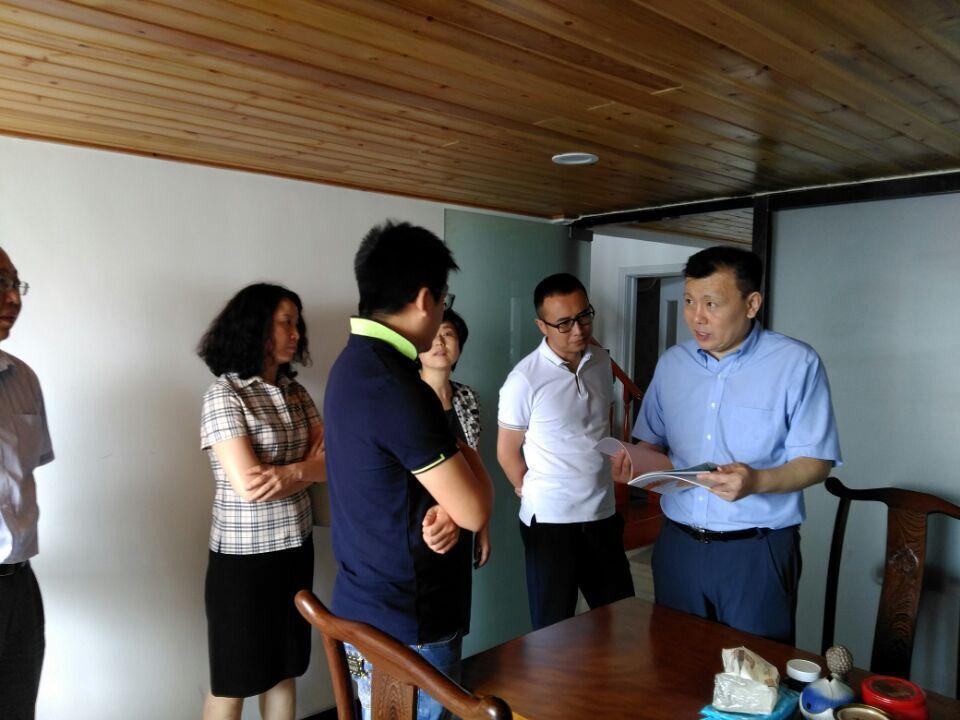青岛市文化局局长莅临我公司参观指导工作